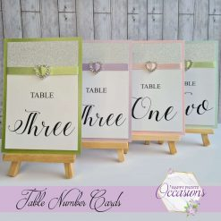 Felicity Wedding Table Number Cards