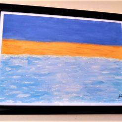 Art work sea and beach theme - Watercolour & acrylic painting