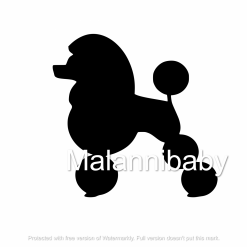 French Poodle SVG| Digital File | Cricut | Silhouette | ESP DXF JPG PNG PDF