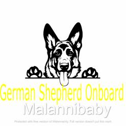 German Shepherd SVG| Digital File | Cricut | Silhouette | ESP DXF JPG PNG PDF