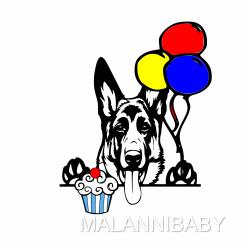 DIY German Shepherd Birthday Card SVG | Digital File | Cricut | Silhouette | ESP DXF JPG PNG PDF