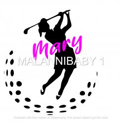 Female Golfer Digital File | Cricut | Silhouette | SVG ESP DXF JPG PNG PDF