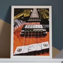 Guitar Art Print, Satin Finish Photo, A4 Size by Cornish Artist, Free UK Postage