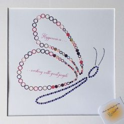 Butterfly or Dragonfly Decorative Framed Quote