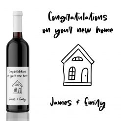 Congratulations on your New Home! House Warming Wine Label Gift from Kanwish Designs