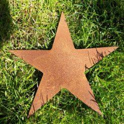 A Rusty Metal STAR Garden Ornament Rustic Vintage Gift Birthday Present