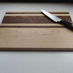 Walnut & maple chopping board