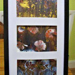 """""""SHADES OF AUTUMN""""  -  3 x CANVAS BOARDS IN FRAME"""