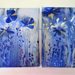 """""""THE BLUE GARDEN""""  -  PAIR OF CANVASES"""
