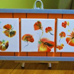 """""""POPPIES GALORE""""  -  TRIPTYCH OF CANVASES"""