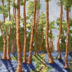 Landscape forest painting.Unframed A3