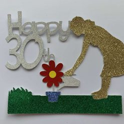 Gardening Watering Cake Topper with any age