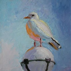 ''Seagull'' palette knife oil painting. 12'' x 10''