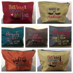 Embroidered Make up bag by T's Crafty Gifts