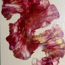 Sunflower - Original Abstract Fluid Acrylic Painting