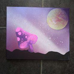 Trippy shroom canvas