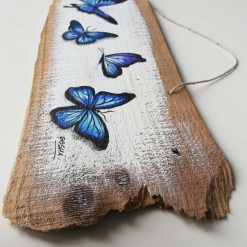 Hand-painted Butterflies on wood