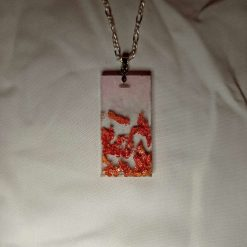 Copper Flake Resin Necklace
