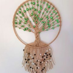 Macrame dreamcatcher Tree of Life with beads (free p&p)