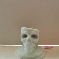 Halloween Skull Candle