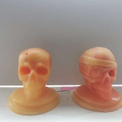 Skeleton Heads With Melting Brain Through Eye