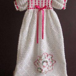 Christening dress, Christening gown, crochet Christening dress.