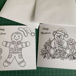colour your own Christmas cards for children