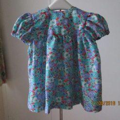 Girls summer dress, party dress, short sleeve dress easy care dress age 3-9 months