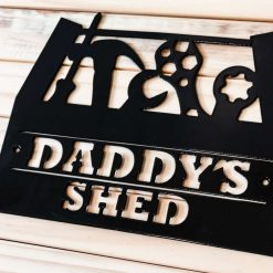 Dads Workshop Shed Metal Sign, Personalised Gift, Man Cave, Grandads, Grandad, Gift for Fathers Day