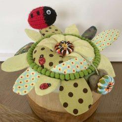 Patchwork Pin Cushion Gift Decorative Pin Cushion Ladybird Floral Present