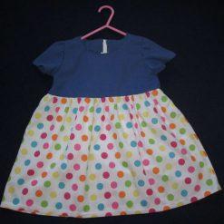Girls summer, party dress, cotton dress sleeveless age 6-7