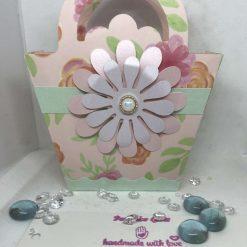 Pretty little mini daisy gift tote bag