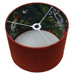 Handmade ORANGE Lemur Lampshades