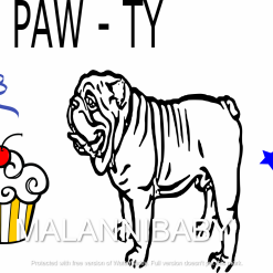 Bulldog Paw-ty Svg Digital File | Cricut | Silhouette | ESP DXF JPG PNG PDF