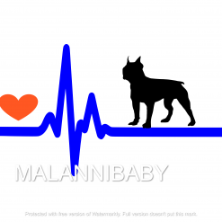 Love My Bull Terrier SVG | Digital File | Cricut | Silhouette | ESP DXF JPG PNG PDF