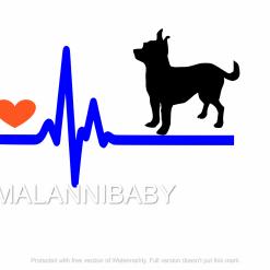 Love my Chihuahua Svg | Digital File | Cricut | Silhouette | ESP DXF JPG PNG PDF