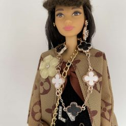 Decorative Dolls Barbie Dressed in Designer Inspired Outfit with Costume Jewellery Code: (A)