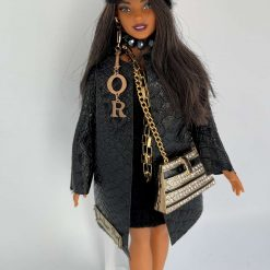 Collectable Dolls Barbie Dressed in Designer Inspired Outfit with Costume Jewellery FREE DELIVERY Code: (C)