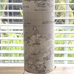 Handmade Fryetts WORLD MAP Grey Lampshades