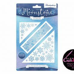 Hunkydory - Moonstone Cutting Dies - A Sparkling Season - Falling Snowflake Panels Die Set