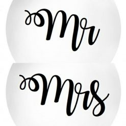 Mr and Mrs Wedding Balloon Sticker / Set of 2 stickers / 12 inches *STICKER ONLY* DIY