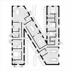 Alphabet Floorplan 'W' Art Print