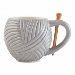 Mug: Yarn Ball Design: Grey