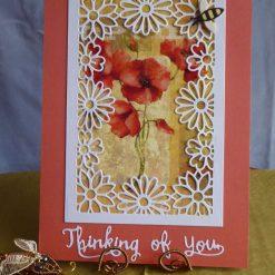 Thinking Of You Poppy Card