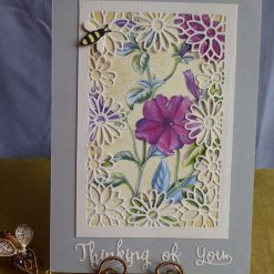 Thinking Of You, Flower Card, (Mauve)