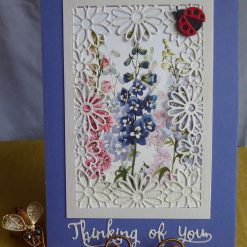 Thinking Of You, Flower card (purple)