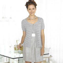 Womens Cardigan Knitting Pattern • Short Sleeved Cardie • PDF Download