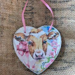 Cow slate heart