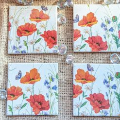 Poppy coasters set