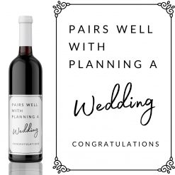 Pairs well with a Wedding Wine Label - add you own custom message from Kanwish Designs